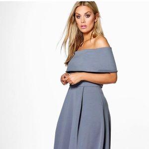 Elizabeth double layer Midi 👗 dress